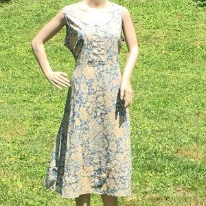 April Cornell Tea Stained (Design) Blue Dress